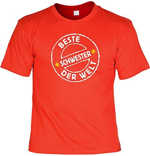 Witziges Sprüche Fun T-Shirt : Beste Schwester der (Kostüme Geschwister Beste)