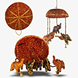 Elephant Mobile screen with red bell beads decoration stuffed animals crafts
