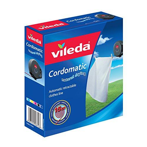 Einziehbare Vileda-Cordomatic-Wäscheleine, 15m