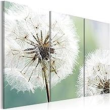 Cuadro en Lienzo Grande Formato Impresion en calidad fotografica! Cuadro en lienzo tejido-no tejido 3 partes flores 030210-16 120x80 cm B&D XXL