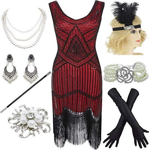Plus Size Flapper Kleider - 8IGHTEEN COSTUME 1920er Jahre Gatsby Fransen