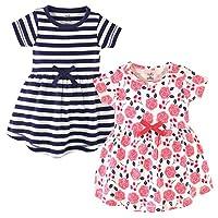 فساتين من القطن العضوي للفتيات (رضيع، أطفال، شباب) Coral Rose Short Sleeve 2-pack 12-18 Months