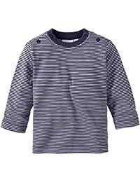 Bornino Basics Shirt/Langarmshirt - Langarm, Farbe: Grau, Blau/Marine Oder Rosa, Gestreiftes Muster, mit Druckknöpfen, Baumwolle, Öko-Tex Zertifiziert - Babybekleidung für Jungen/Mädchen
