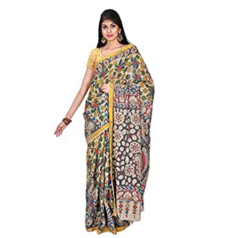 Mistyque Cotton Saree (Mj-Bl-1794_Grey And Pale Olive)