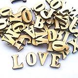 Auntwhale 100 Stücke Holz Alphabet Verschönerung Holz Buchstaben Scrapbooking Cardmaking Handwerk