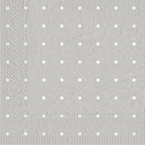 Tifany 8013298.0Plumetis 2Ply Paper Towel Gris à Pois Blanc