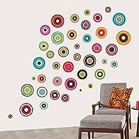 Decals Design 'Polka Motifs' Wall Sticker (PVC Vinyl, 60 cm x 90 cm, Black)
