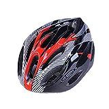 LuuBoes Fahrradhelm mit 19 Belüftungsöffnungen, bequem, leicht, atmungsaktiv, für Erwachsene, rot