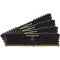 Corsair CMK32GX4M4B3200C16 Vengeance LPX Kit di Memoria RAM da 32 GB, 4x8 GB, DDR4, 3200 MHz, CL16, Nero