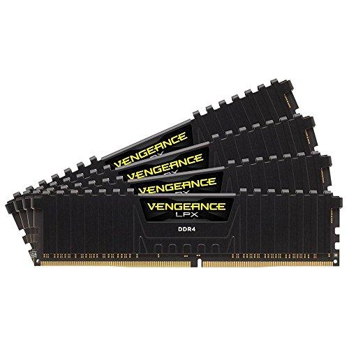 Corsair CMK16GX4M4B3600C18 Vengeance LPX 16GB (4x4GB) DDR4 3600MHz C18 XMP 2.0 High Performance Desktop Arbeitsspeicher Kit mit Airflow Kühlung, schwarz