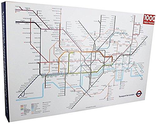 Preisvergleich Produktbild Robert Frederick rechteckig london underground Puzzle, sortiert, 1000