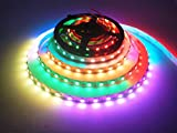 WS2812B Led Streifen Licht, Visdoll 16.4FT WS2812B 300 Leds 5050 RGB SMD Individuell Adressierbar LED Seil Licht, Volle Farbe LED Streifen Licht DC 5V Nicht Wasserdicht (Weiß PCB)