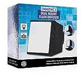 Soft Box DSLR Blitz Diffusor. Zwei Öffnungen für Pop Up Blitze, Speedlight. Canon EOS 750D 700D 80D 70D 100D / Nikon D5300 D3300 D7200 / Sony SLT-A58K - 6