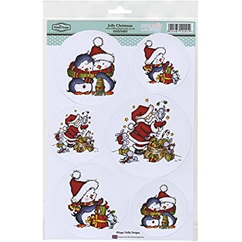 Hobby House Jolly Christmas Sugar Nellie Topper Sheet, 8.5 by 12.2 by Hobby House