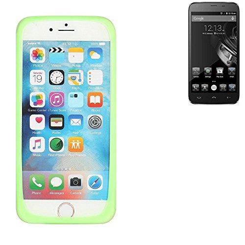 K-S-Trade Für Homtom HT6 Silikonbumper/Bumper aus TPU, Grün Schutzrahmen Schutzring Smartphone Case Hülle Schutzhülle für Homtom HT6