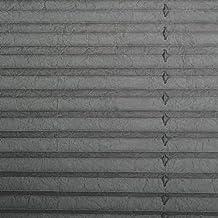 Auralum 2 años de garantía y cortina plegable de estor enrollable 60 x 130 cm medida de la realización de estor opaco kskeskin de láminas de montaje en la ventana, Marrón