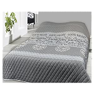 jemidi bett berwurf und sofa berwurf gesteppt 220 x 240 tagesdecke berwurf bett husse decke xxl. Black Bedroom Furniture Sets. Home Design Ideas