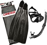 Cressi Pro Star Set Immersioni, Unisex – Adulto, Nero, 43/44