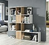Miroytengo Estantería o librería moderna en forma de zig