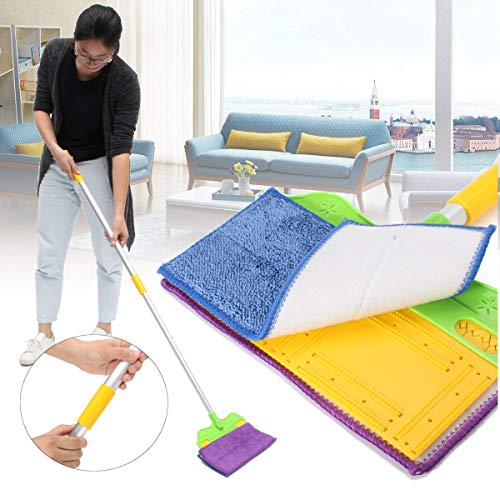 Anddod Hand Free Washing Double-Side Flat Mop Microfibre Cleaner Floor Cleaning Tools -
