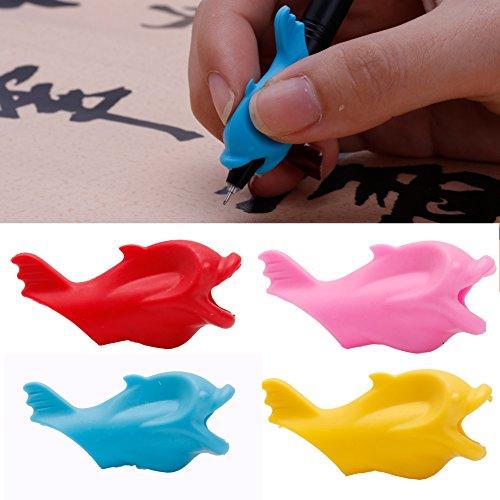 Yunso 10 Stücke Bleistift Griffe,Kinder Bleistifthalter Fisch Geformt Schreiben Halten Stift Griff Körperhaltung Korrekturwerkzeug