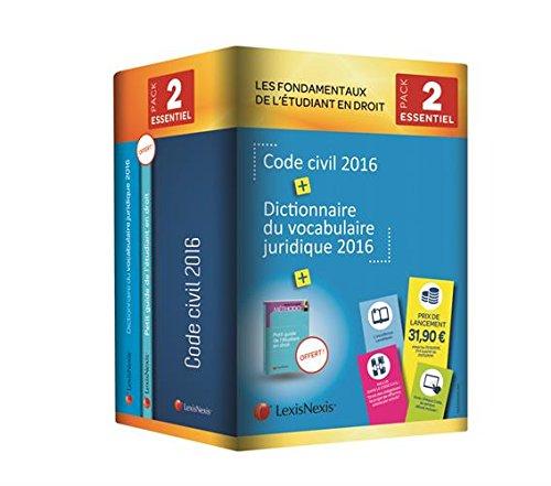 Les fondamentaux de l'étudiant en droit : Pack n°2 : Code civil 2016 ; Dictionnaire du vocabulaire juridique 2016 ; Petit guide de l'étudiant en droit