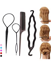 Zelin fashion Hair Accessories For Briads Tool (Set Of 4 Pcs)