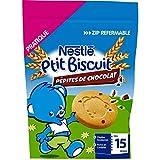 Nestlé Bébé P'tit Biscuit Pépites de Chocolat - Biscuit dès 15 Mois - Sachet 150g - Lot de 6