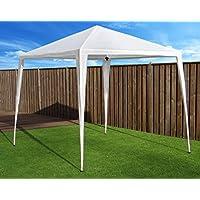 Cenador Carpa Gazebo Pavilion   270 x 270 cm (2,7 x 2,7 m)   color blanco   sorara   7 kg (protección UV 50 +) PE   evento al aire libre Camping