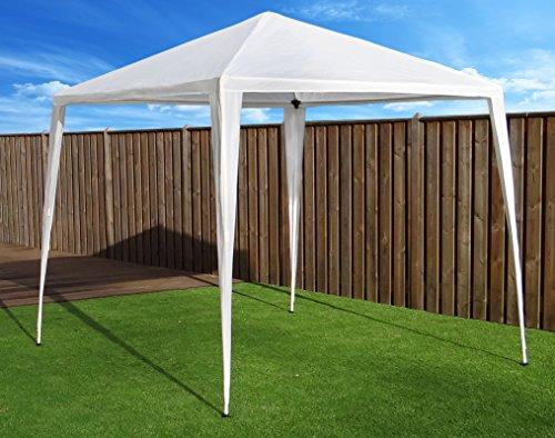 Tonnelle Pavilion Tente de réception | 270 x 270 cm (2.7 x 2.7 m) | Blanc | Sorara | 31 kg (UV 50 +) PE | cas extérieur Camping