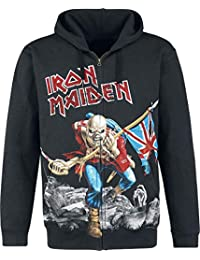 Iron Maiden The Trooper - Battlefield Capucha con Cremallera Negro