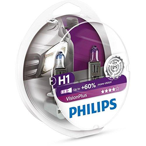 Preisvergleich Produktbild Philips VisionPlus +60% H1 Glühlampe,  2 Stück