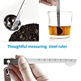 from Apicallife Measuring Cups & Measuring Spoons with Measuring Ruler Set of 11, Apicallife Stainless Steel Measuring Cups and Spoons for Dry and Liquid Ingredients, Silver