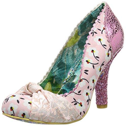 Irregular Choice Smartie Pants - Scarpe con Tacco donna, colore rosa (pink floral), taglia 36 EU (3.5 UK)