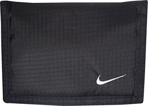 Nike Geldbörse. Wallet. Portemonnaie. Sehr leicht, aber strapazierfähig und robust. Zeitloses Design. Schwarz. 12 x 9 cm