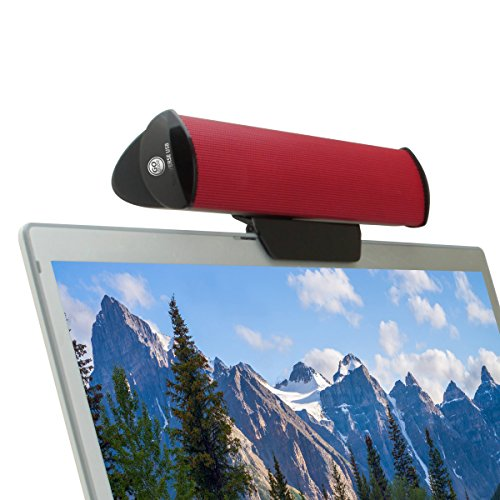 GOgroove Altavoz USB PC/Barra de Sonido Ordenador Portátil/Clip On Soundbar para Tablet...