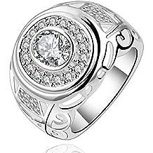 joyliveCY-moda 925 de plata de ley ovillo de joyer¨ªa anillo redondo de