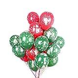 MAKFORT 50 Stück Weihnachten Luftballons Set Perfekte Deko Weihnachtsballons Für Zuhause und Büro Rote und Grüne Latex Ballons Für Weihnachten Deko