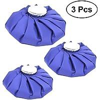 WINOMO 3 Stück Eisbeutel Kühlbeutel wiederverwendbare Heiße Kalte Behandlung für Knie Hals Kopf Bein (Blau) preisvergleich bei billige-tabletten.eu