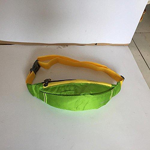 BUSL Frau Wandern Hüfttaschen Sport wasserdichte Outdoor persönliches Telefon Stealth Mini-Tasche läuft light green