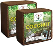 GATE GARDEN Set of 2 Cocopeat/Agropeat Block 5kg - EXPANDS to 150 litres of Coco Peat Powder After Adding Wate