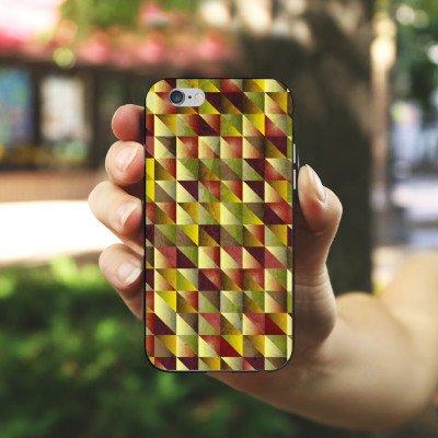Apple iPhone X Silikon Hülle Case Schutzhülle Dreiecke Muster Abstrakt Silikon Case schwarz / weiß