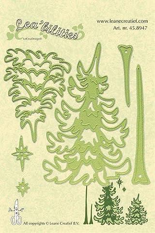 Leane Creatief Lea'Bilities arbres de Noël & emobssing Matrice de