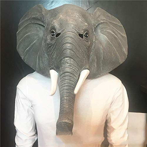 SHIYAREN Máscara de Halloween Máscara de adultoMáscara Animal Mascarada Elefante máscara Capucha Fiesta de Halloween