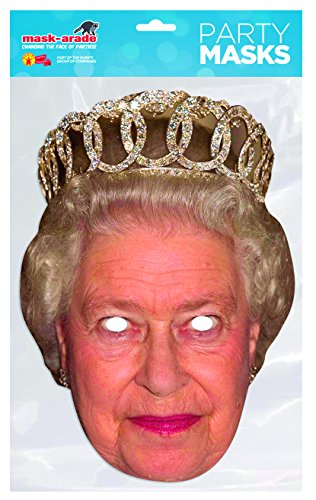 Themen England Party Kostüm - Rubie 's-Königin Elisabeth, Maske Kostüm, Einheitsgröße (queen01)
