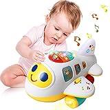 Mingzheng Jouet pour Bébé Avion Enfant - avec Musiques et Sons Forme et Couleur Jouets d'éveil pour Les Tout-Petits Cadeau Enfant 1 2 3 Ans (Avion pour bébé)
