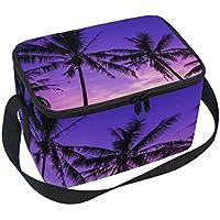 bettken Palm Baum in Sunrise Foto Custom Isolierte Lunch Bag/Box/Organizer/Halter/Container Lunch Ice Pack mit Schulterriemen für Arbeit, Schule und Picknick preisvergleich bei kinderzimmerdekopreise.eu