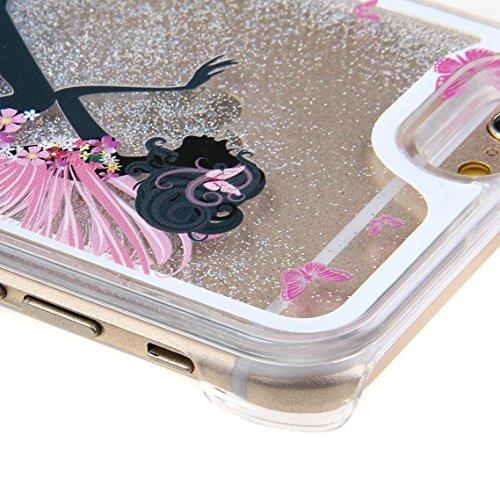 iPhone 6S Plus Coque, iPhone 6Plus, iPhone 6S/6/6Plus Coque, étui, liquide pour iPhone 3S/6/6Plus, newstars Creative Design Fluide Liquide flottant de luxe Bling Glitter Paillettes étoiles vives Co Silver:Butterfly Angel