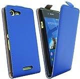 Handytasche Flip Style für SONY XPERIA E3 in Blau