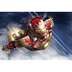 Z-TOY Regalo Creativo Iron Man Superhéroe Rompecabezas De Madera Marvel Fans Pinturas Decorativas Niños Juguete Educativo Inteligente (Color : D, Size : 300p)
